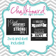My Thoughts Exactly Stamps: Freebie Friday: Chalkboard Life Cards - Project Life Printables