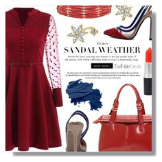"""""""Red & Blue"""" by fashion-pol ❤ liked on Polyvore featuring Bobbi Brown Cosmetics"""