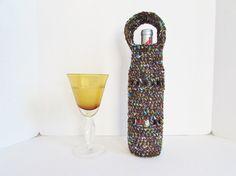 Wine Bottle Holder Wine Bottle Carrier by LoveandPetFurCrochet