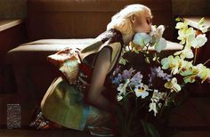 Nadja Bender Inhales the Scent, Lensed by Camilla Akrans for Vogue Japan April 2013 - 3 Sensual Fashion Editorials | Art Exhibits - Anne of Carversville Women's News