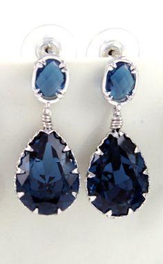 Hailey Montana Crystal Bridal Earrings Bridesmaid