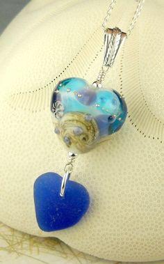 Eco Friendly Cobalt Blue Heart Sea Glass by seaglassgems4you, $70.00