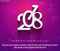 Special New Year 2018 Wishes Quote Image