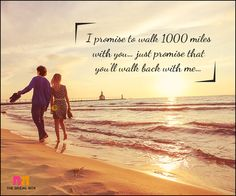 Love Promise Quotes - Walk With Me