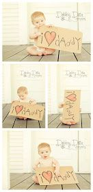 Adorable and easy photo op idea for Valentines Day or Fathers Day