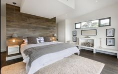 raw wood focal wall