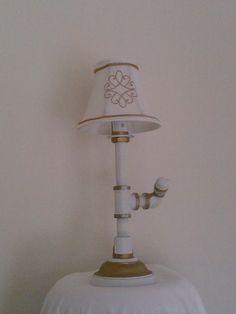 White Pipe Lamp By RJ DIAZ & CO.