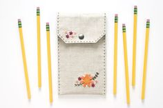 DIY Embroidered Pencil Case to Stow Supplies in Style