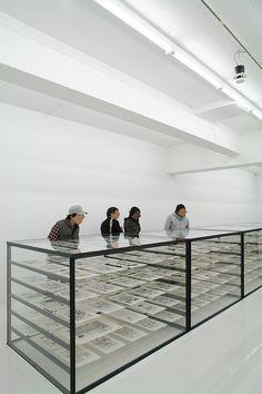 Crunchyroll - A Look Inside the Katsuhiro Otomo GENGA Exhibition Exhibition Display, Exhibition Space, Museum Exhibition, Display Design, Store Design, Katsuhiro Otomo, Museum Displays, Expositions, Design Museum