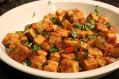 Indian Curried Tofu Recipe mid-week-dinners