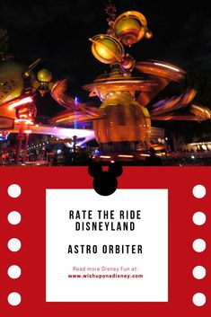 The Astro Orbiter - Disneyland's Tomorrowland, rate what you think of it and read its fun facts. Disney Rides, Disneyland Rides, Disneyland Resort California, Disneyland Tomorrowland, Disney Fun Facts, Disney Tickets, Disney Hotels, Wish, Board