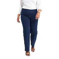 Chic Classic Collection Women's Plus Size Easy Fit Elastic Waist Jean, Starlite, Plus Size Dresses, Plus Size Outfits, Canadian Clothing, Petite Leggings, Pull On Jeans, Women's Jeans, Fashion Hub, Fashion Pants, Denim Outfit
