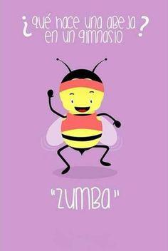 ¿Qué hace una Abeja en un Gimnasio ? Zumba... :P vía @Candidman #compartirvideos #imagenesgraciosas #imagenesdivertidas