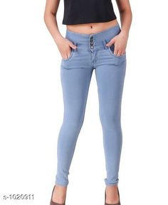 Jeans Stylish Denim Women's Jeans Fabric: Denim  Waist Size: S- 28 in, M- 30 in, L- 32 in, XL- 34 in , XXL - 36 in  Length: Up To 40 in  Type: Stitched Description: It Has 1 Piece Of Women's Denim Jeans Work: Solid Sizes Available: 28, 30, 32, 34, 36 *Proof of Safe Delivery! Click to know on Safety Standards of Delivery Partners- https://ltl.sh/y_nZrAV3  Catalog Rating: ★4.1 (9922)  Catalog Name: Alyssa Stylish Denim Womens Jeans Vol 1 CatalogID_123166 C79-SC1032 Code: 504-1020911-