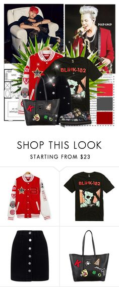 """A hint of red"" by lisannevicious ❤ liked on Polyvore featuring Paul Frank, Oris, Miss Selfridge, Karl Lagerfeld, Alexander McQueen, bigbang, kpop, GD and gdragon"