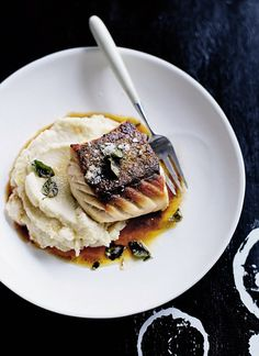 Donna Hay: Crispy-skin fish with cauliflower purée and oregano butter | Daily Mail Online