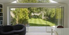 Image result for frameless glass folding doors