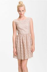 French Connection 'Fast Twinkle' Metallic Lace Dress
