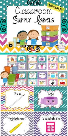 LOVE these cute supply labels...it's time to get organized!!!$