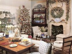 These are from Charles Faudree's then house and his sister's place dressed for Christmas.