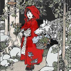 Charles Perrault, Red Ridding Hood, Fairytale Art, Red Hood, Pics Art, Children's Book Illustration, Little Red, Illustrators, Book Art