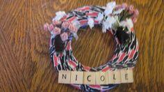 Nicole's Wreath on her bedroom door.matches her room décor. Bedroom Doors, 4th Of July Wreath, Room Decor, Wreaths, Inspired, Inspiration, Biblical Inspiration, Home Decor, Door Wreaths