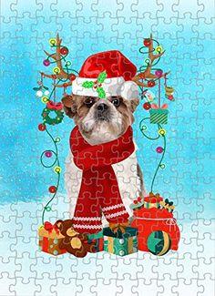 Shih Tzu Dog in Snow Jigsaw Puzzle, Christmas, 252 Pieces Jigsaw Puzzle PrintYmotion #Shih Tzu #Dog Lovers gift #Christmas Gift #Christmas Puzzle Christmas Jigsaw Puzzles, Christmas Puzzle, Christmas Dog, Christmas Ideas, Lovers Gift, Dog Lovers, Dog Puzzles, St Bernard Dogs, Basset Hound Dog