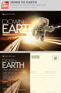 The Down to Earth Church Flyer Invite Template is sold exclusively on graphicriver, it can be used for your church events, concerts or any event that need a clean modern design for promotional purposes.