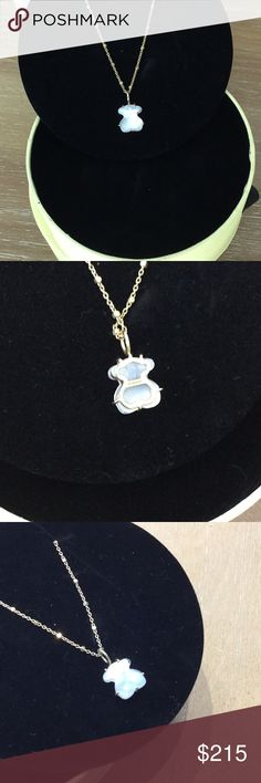 Tous Gold Bright Quartz Pendant Tous Gold Bright Quartz Pendant, Worn just a couple of times, 18K gold, excellent condition. Beautiful!! Comes with Tous original box.  Chain NOT included. Tous Jewelry Necklaces