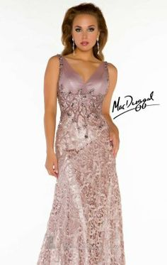 Lace Beaded Gown by Mac Duggal Couture 78753D