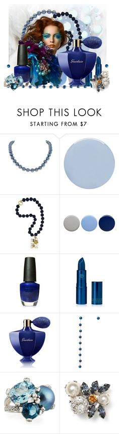 """""""Blue Pearl"""" by elsiemarley22 ❤ liked on Polyvore featuring beauty, Deborah Lippmann, Misis, Burberry, OPI, Guerlain, DOSE of ROSE, Stephen Dweck and Jimmy Choo"""