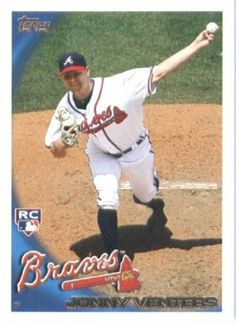 2010 Topps Update Baseball Card #US-288 Jonny Venters RC - Atlanta Braves ( RC - Rookie Card ) MLB Trading Card in Screwdown Case by Topps. $2.95. Check out other listings for more great 2010 baseball singles !. NOTE: Stock Photo Used. Contact seller if there is no image or you have questions. Card is shipped in a protective screwdown storage case!. This is one of the 100s of cards being offered from this gorgeous series of cards!. All the New Rookies, Traded Players, All Star...