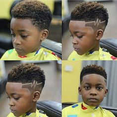 African American boy with a temp fade. Boys With Curly Hair, Black Curly Hair, Curly Hair Men, Curly Hair Styles, Long Hair, Black Boys Haircuts Kids, Little Boy Haircuts, Toddler Boy Haircuts, Baby Boy Hairstyles