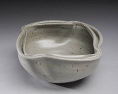 Artist: Warren MacKenzie, Title: Grey Bowl with Double Rim - click on image to enlarge