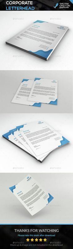 Corporate Letterhead Bundle Letterhead - corporate letterhead