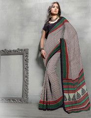 Daily Wear Black Color Art Silk Printed Saree