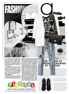 """""""Tinydeal 5"""" by emina-turic ❤ liked on Polyvore featuring MANGO, Worn Jeans, Marc by Marc Jacobs and tinydeal"""
