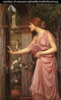 Psyche Opening the Door into Cupids Garden 1904 - John William Waterhouse - www.pre-raphaelite-brotherhood.org