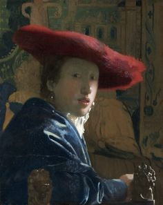 Johannes Vermeer, Girl with the Red Hat, circa 1665–66, oil on panel, 9 1/2 x 7 1/8 in., National Gallery of Art, Washington, Andrew W. Mellon Collection, 1937.1.53