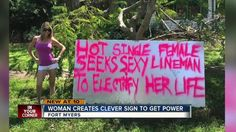 FORT MYERS -- Woman uses sexual innuendo to try to get linemen to restore her power after #HurricaneIrma. It works. (September 2017)