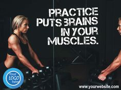 create 50 Fitness and Workout Quotes with your Logo by stepanadrian