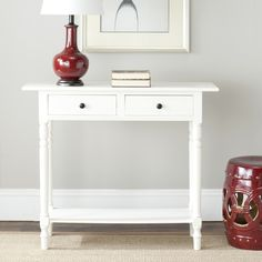 Safavieh Cape Cod Cream 2-drawer Console Table | Overstock.com Shopping - The Best Deals on Coffee, Sofa & End Tables $135.99