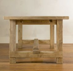 Farmhouse Salvaged Wood Rectangular Extension Tables | Rectangular Dining Tables | Restoration Hardware
