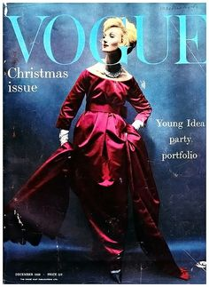 1958-59 - Yves Saint Laurent for Christian Dior dress by William Klein for Vogue Cover