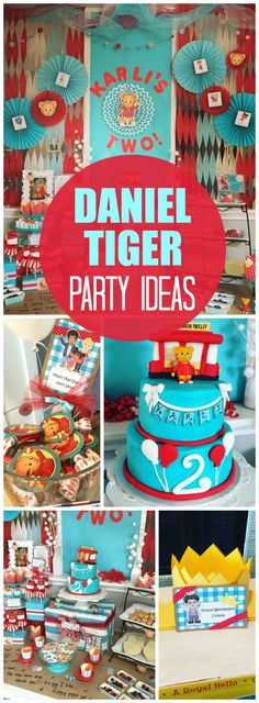 Daniel Tiger Birthday Invitations