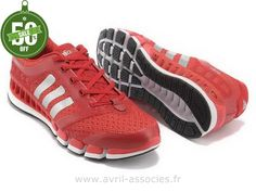 Officiel Adidas 2016 - Adidas Climacool 5 Amants Chaussures Rouge Argent (Adidas Pas Cher)