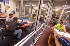 When you're on campus, be sure to check out our library, which offers resources for both faculty and students, and also provides a quiet place to study individually or with a study group.