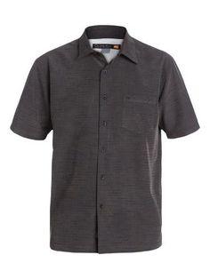 Quiksilver Waterman Centinela 4 Shirt - Short-Sleeve - Men's Black, S, Size