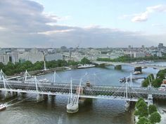 Thames River and the Golden Jubilee Footbridge