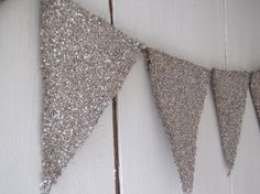 Funkyshique: Tarnished Glitter Burlap Banner....Mini